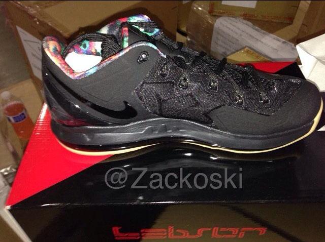 reputable site ad2ae 17c63 Nike LeBron XI 11 Low Black/Black-Hyper Crimson-Hyper Cobalt Release Date