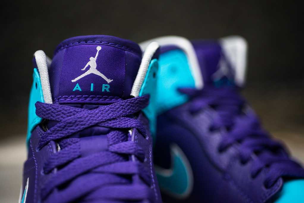 566fb12402dd Air Jordan 1 Mid  Hornets  - Court Purple   Gamma Blue