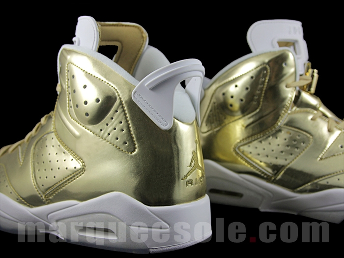 on sale 2c6a7 07fe4 Gold Air Jordan 6 Pinnacle Heel