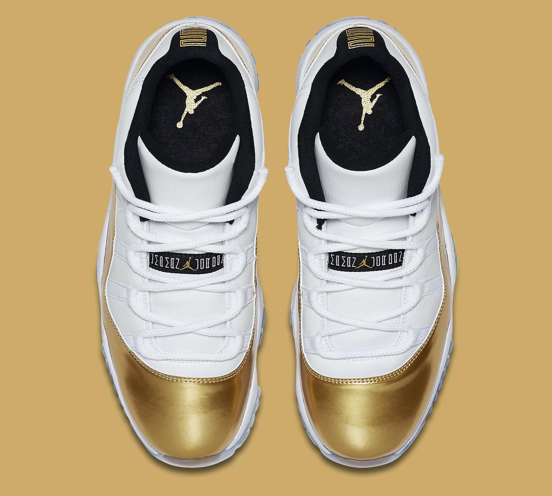Gold Jordan 11 Low Top