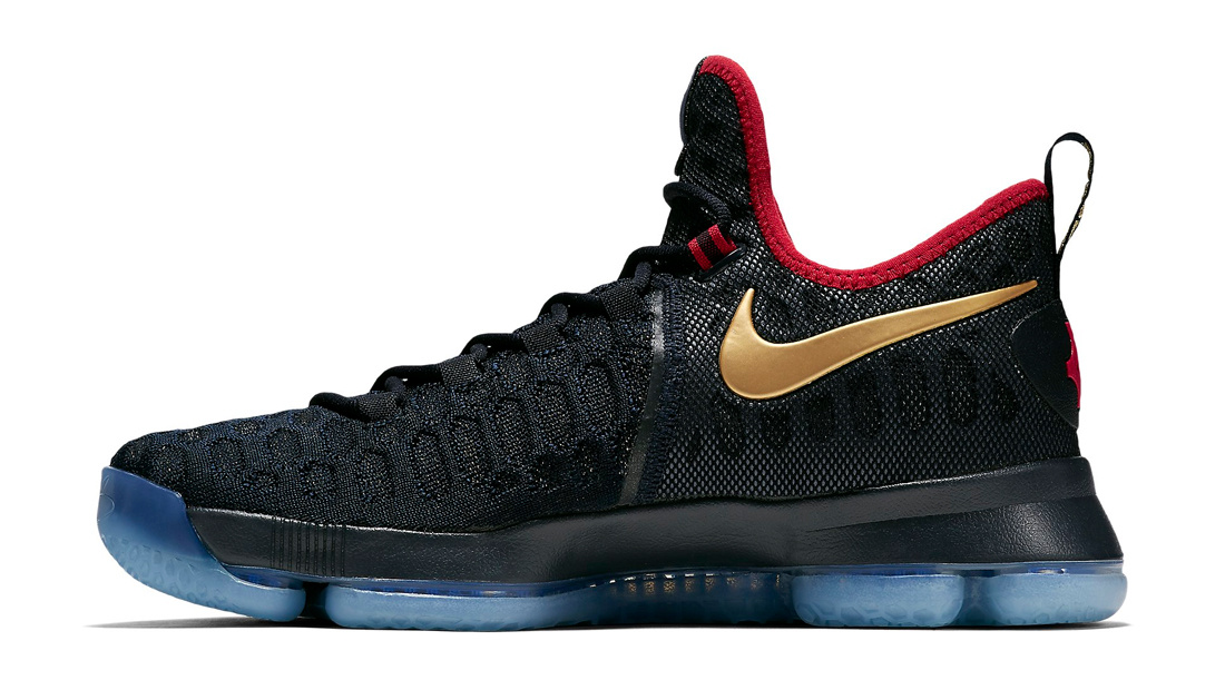 buy popular ab355 dcaa8 Nike KD 9 Gold Medal Medial