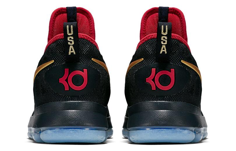 Nike KD 9 Gold Medal Heel