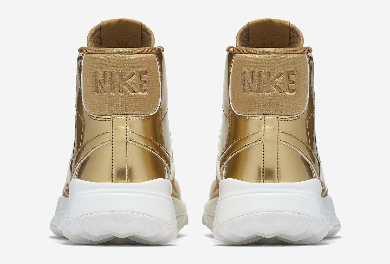 Gold Nike Blazer Golf Shoe Heel