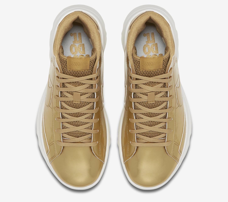 Gold Nike Blazer Golf Shoe Top Down