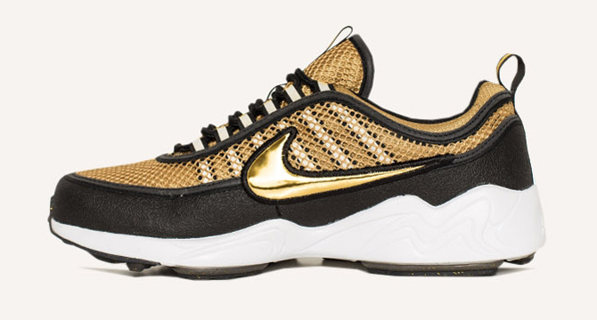 Gold NikeLab Air Zoom Spiridon Medial