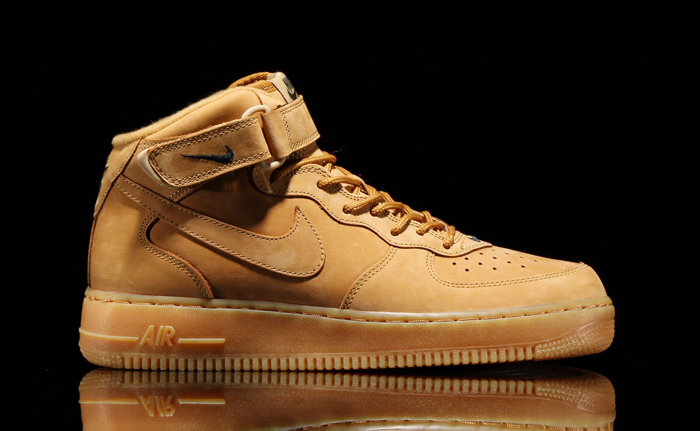 nike air force mid wheat