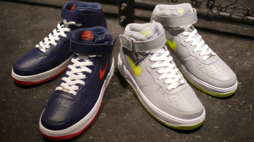 innovative design d9e26 8f7a9 Nike Air Force 1 Mid Jewel NYC - Navy Orange