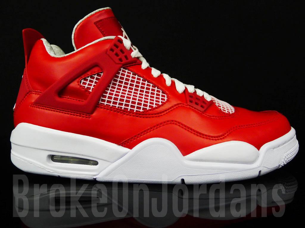 Air Jordan IV 4 Red White Foamposite Sample (3) 1ad2803e5