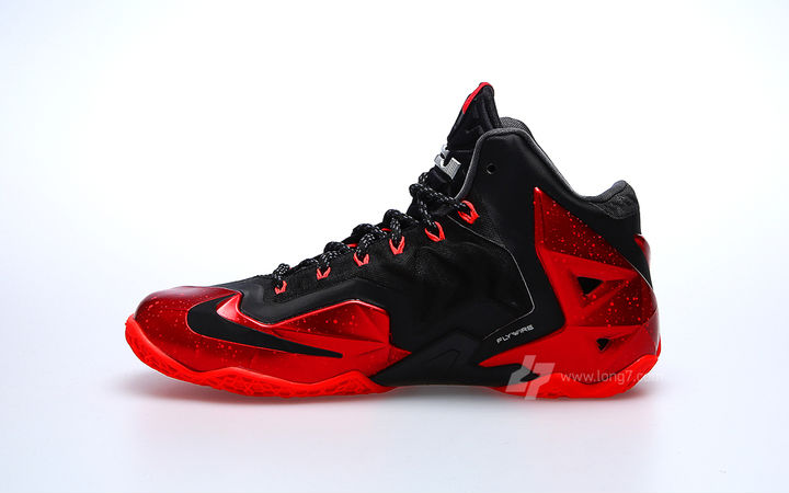 best sneakers 5f688 4d1be Nike LeBron XI Black Red Miami Heat Release Date 616175-001 (2)