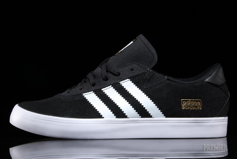 adidas con lo skateboard gonz nero / bianco (unico collettore