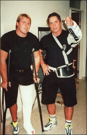 Bret & Owen Hart wearing the Nike Zoom T-Bug Flight