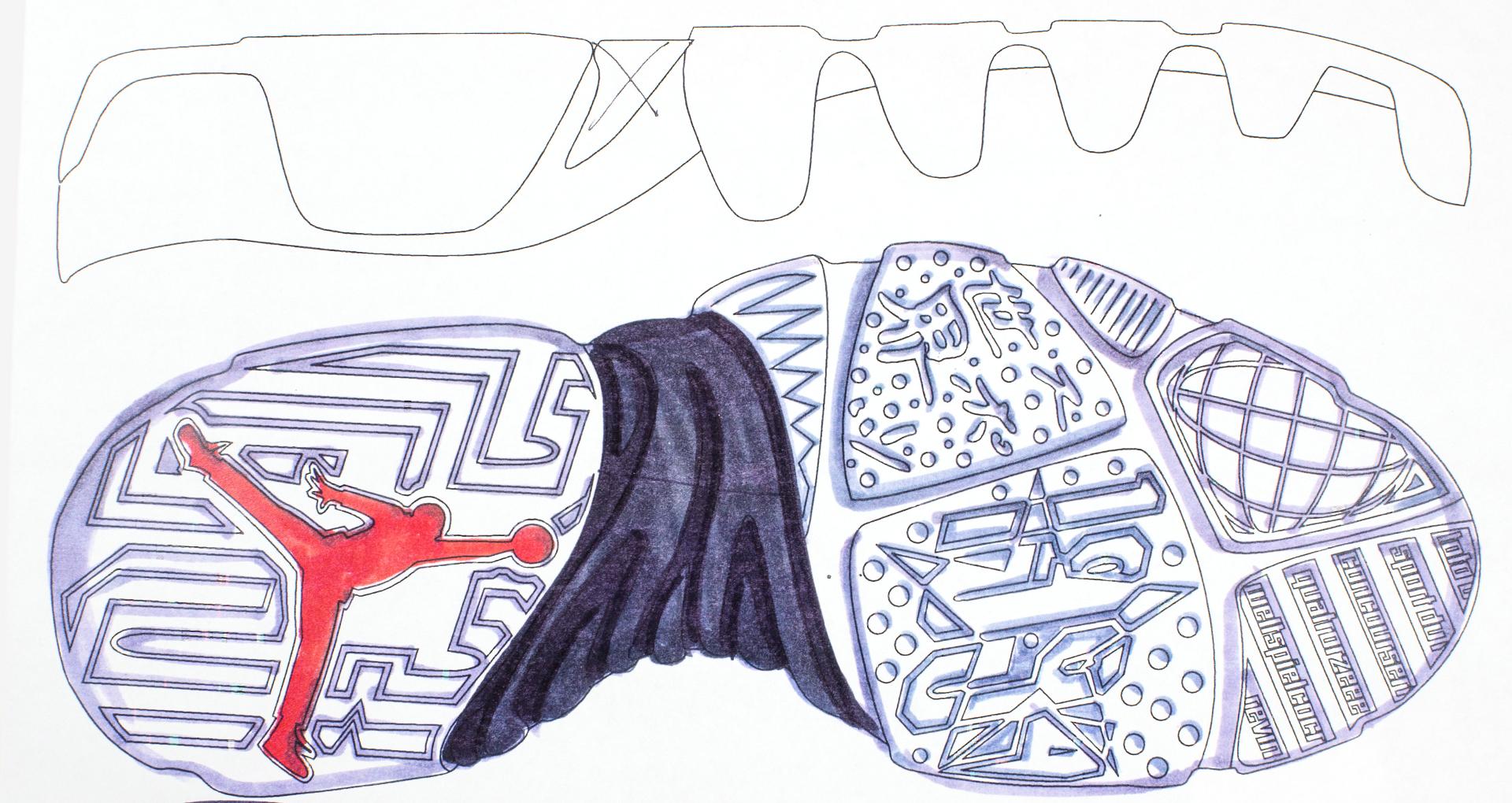 Air Jordan 9 Design Sketch 4