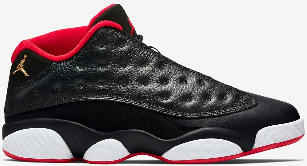 Air Jordan 13 Retro Low Black/Metallic Gold-University Red-White