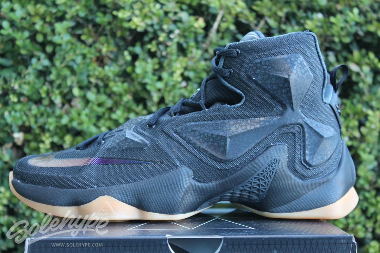 65a129538c2 Nike LeBron 13 Black Lion Black Gum 807219-001 Release Date (2) via  sneakrfiend76