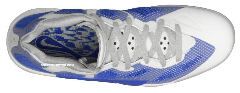 huge discount f01bb 815c3 Nike Zoom Hyperfuse 2011 White Metallic Luster Treasure Blue Wolf Grey  454136-102