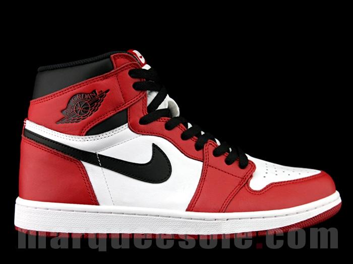 Chicago' Air Jordan 1s with Nike Air
