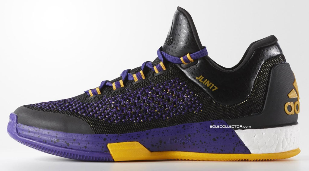 b00a95e0b6a4 Jeremy Lin s adidas Crazylight Boost 2015 Lakers PE (1)