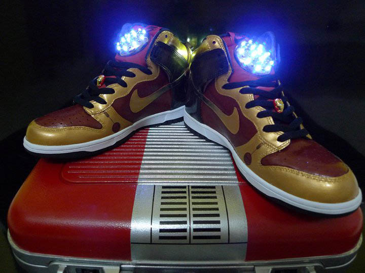 new york 12c6b 25dcc Nike Dunk High Ironman by More Than Art To Wear (2)