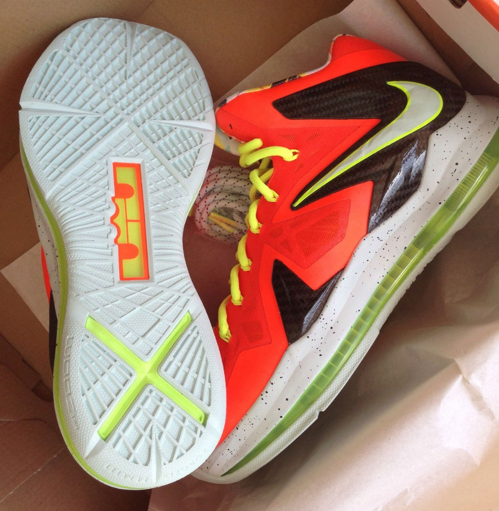 new style 3c731 10627 Nike LeBron 10 P.S. Elite Total Crimson Fiberglass-Black-Volt,basketball  shoes flipkart
