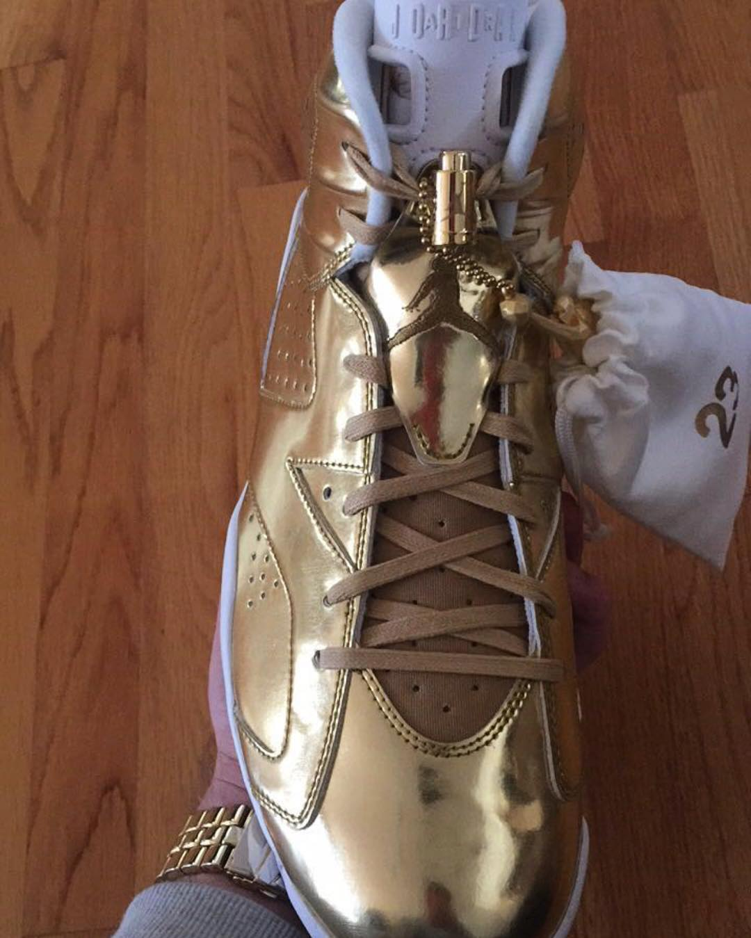 f68cbfcae2c Air Jordan 6 Pinnacle Gold Release Date 854271-730 Front