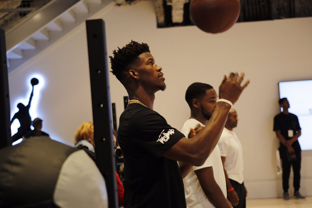 Jimmy Butler wearing the Black 'OVO' Air Jordan 10 (1)
