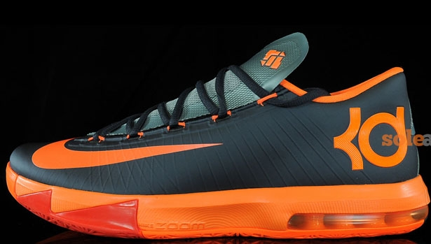 Nike KD VI Anthracite/Total Orange-Team Orange-Mica Green