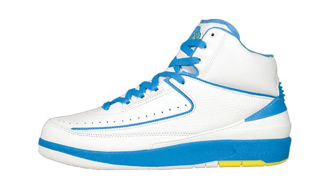 bd2b6185c53846 Shoe  Air Jordan 2 Retro – White   University Blue   Varsity Maize Retail  Price   110. Release Date  04 24 2004  1 Movie  Man On Fire