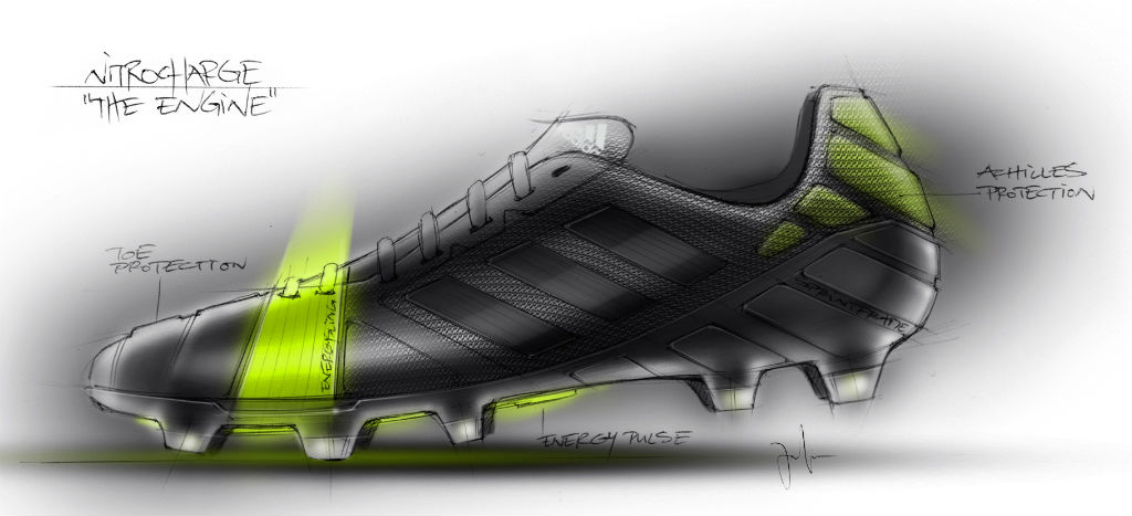 adidas Unveils Energy-Focused Nitrocharge Soccer Cleat Sketch