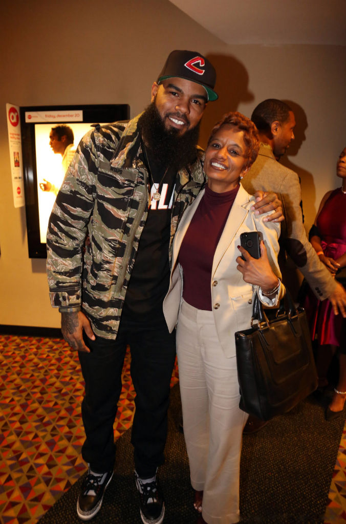 Stalley wearing Air Jordan 3 III Retro Black Cement