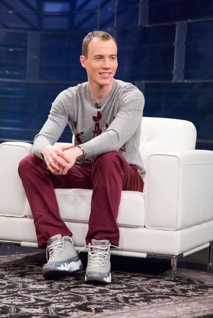 DJ Skee wearing Air Jordan 9 Retro Cool Grey