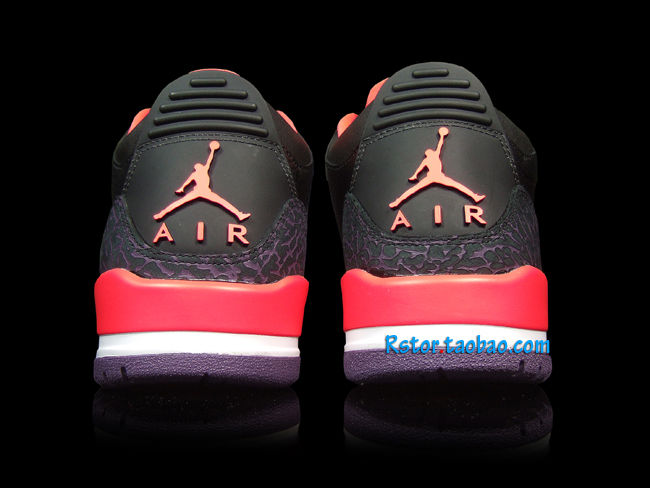 Air Jordan III 3 Black Crimson Purple 136064-005 (12)