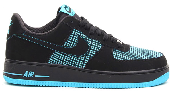 nike air force 1 low black gamma blue