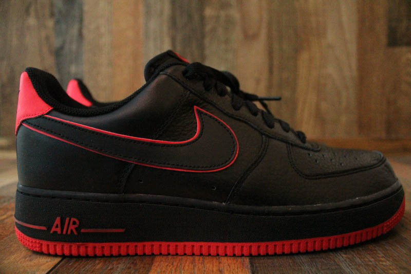 quality design 6e503 6b55d Nike Air Force 1 Black Action Red 488298-002 (1)