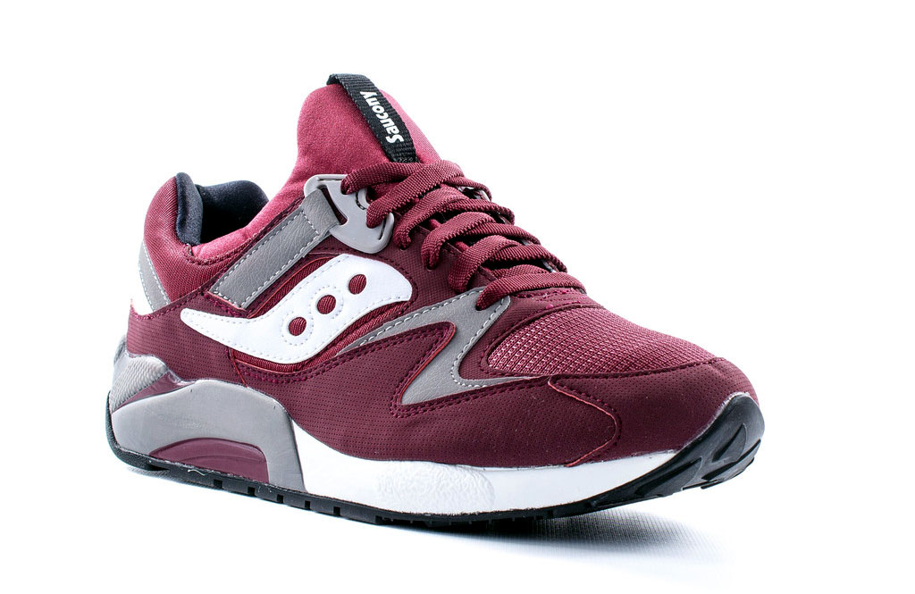new product b45c9 451d6 ... a classy burgundy outfit with accents in grey and white. Keep your eyes  peeled for them at your local Saucony retailer, or pick them up now online  from ...