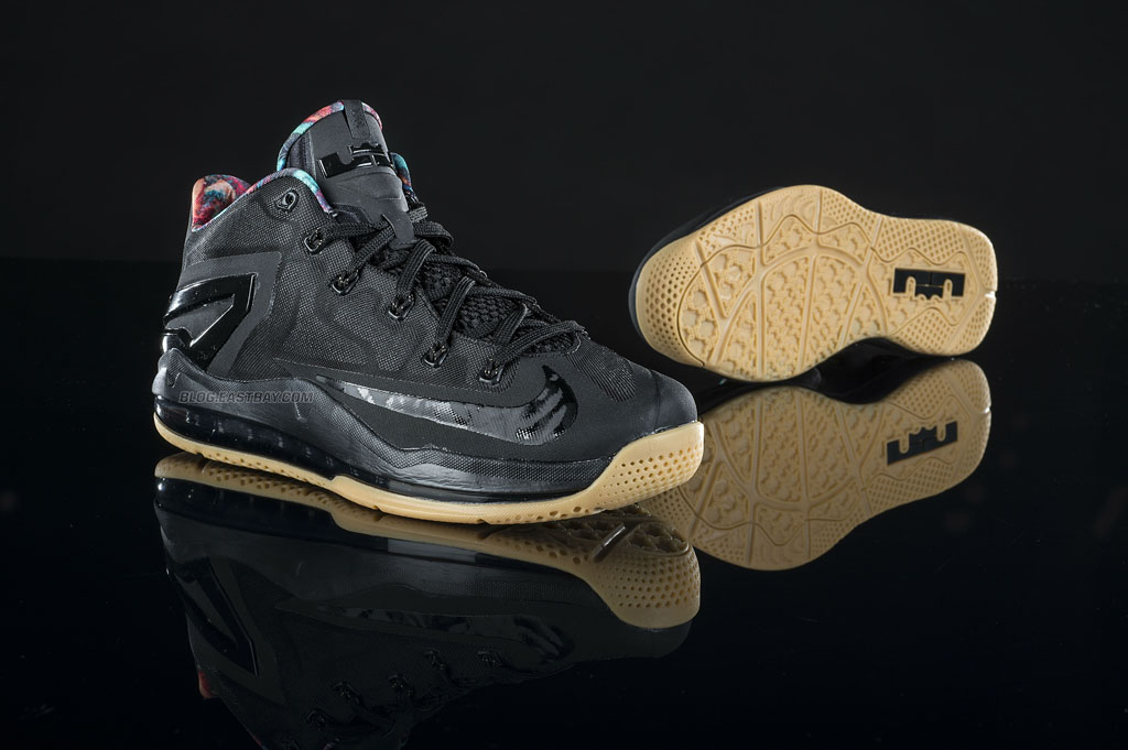 online store a380c 57a53 Nike LeBron 11 Low Black Hyper Crimson-Hyper Cobal