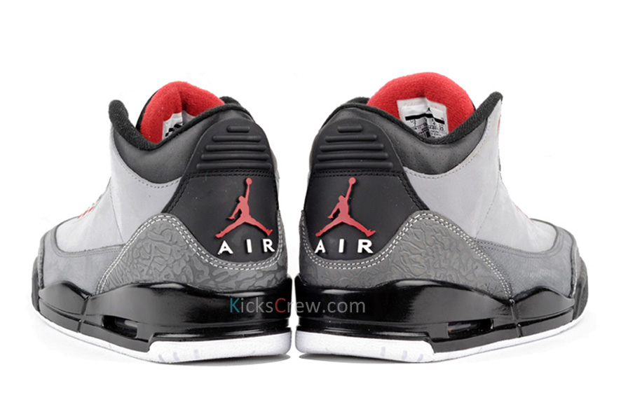 brand new 6073a d2edd Air Jordan Retro 3 Stealth Varsity Red Light Graphite Black 136064-003