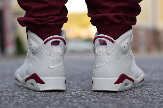 Air Jordan 6 Maroon On-Foot 384664-116 (14)