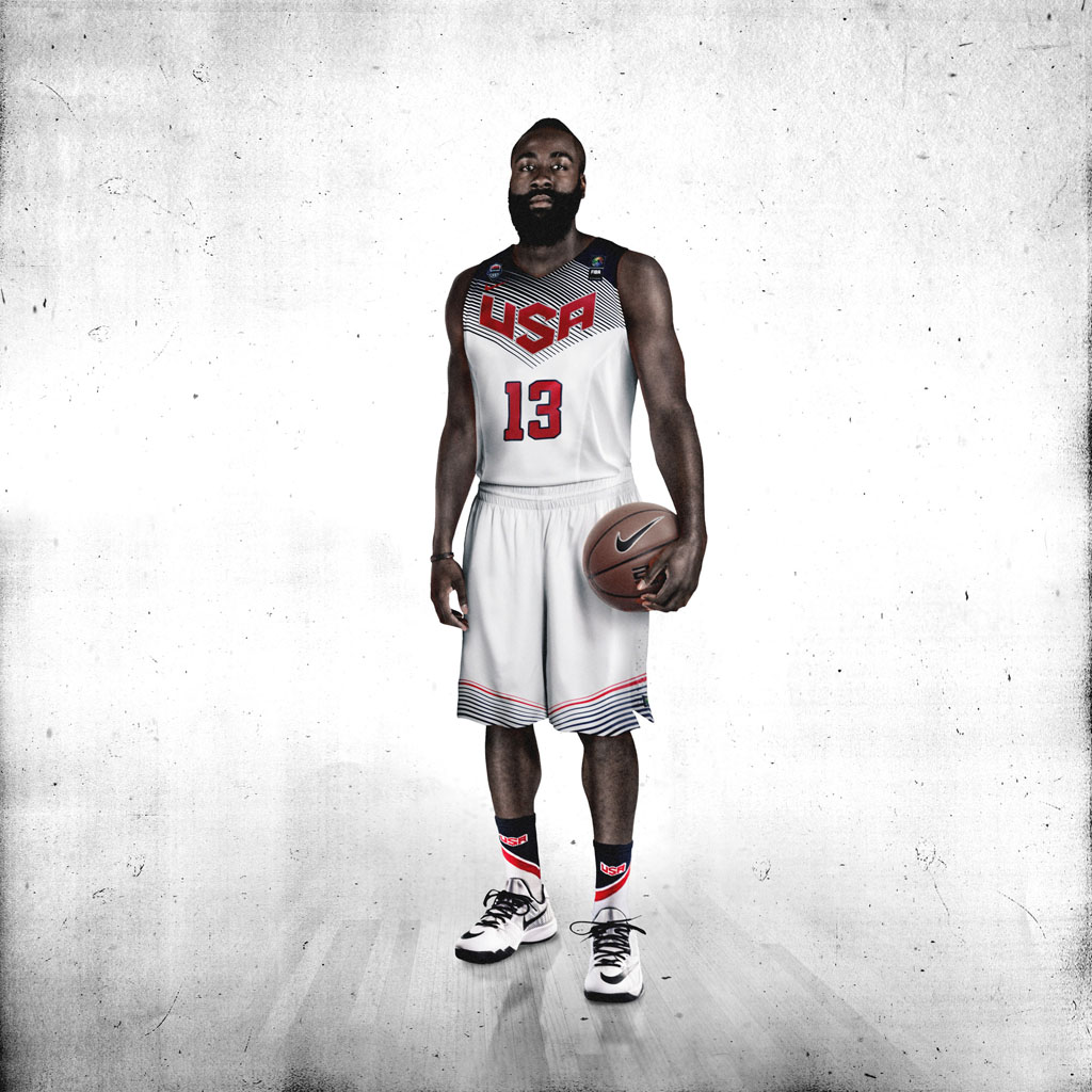 Nike Basketball Unveils 2014 USA Basketball Uniforms - James Harden (3)