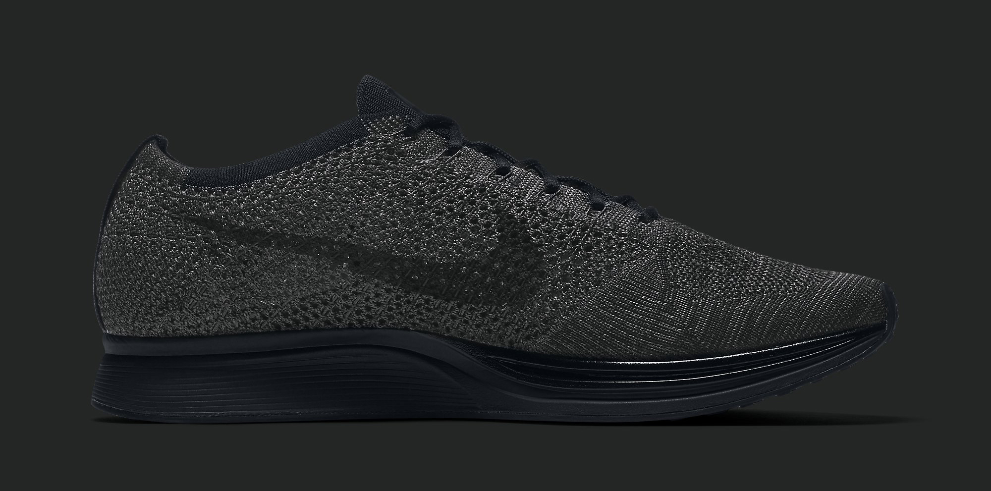 Nike Flyknit Triple Black Medial