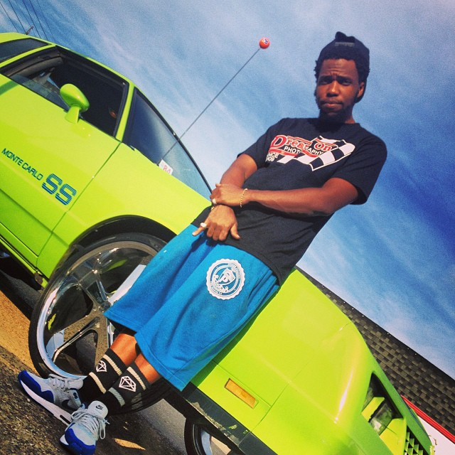 Currensy wearing Nike Air Max 1 Blue