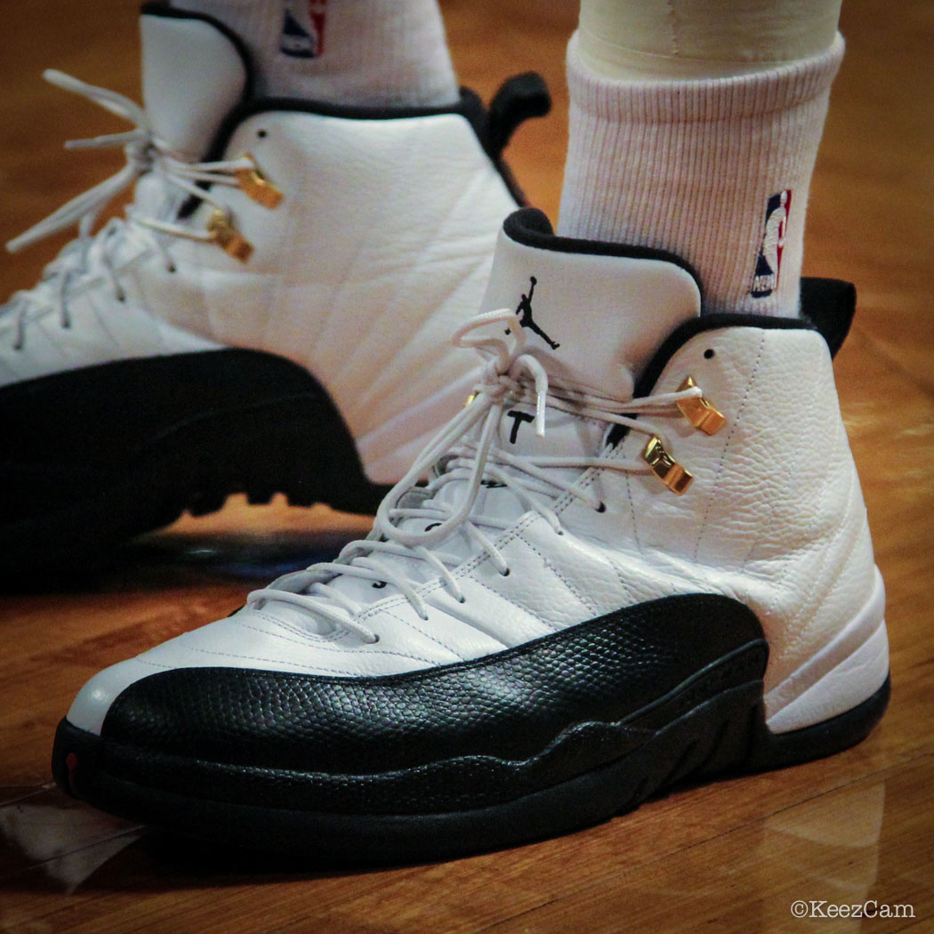 Joe Johnson wearing Air Jordan 12 Taxi
