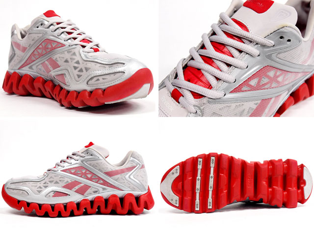 new product cc5d9 95039 ... Reebok Zig Sonic Silver Red