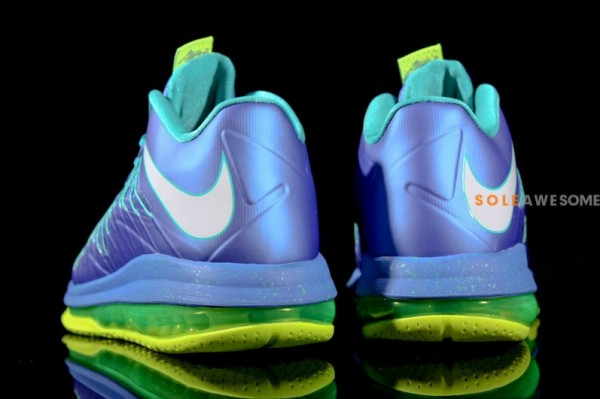 251069543c09 Nike LeBron X Low - Treasure Blue White-Volt
