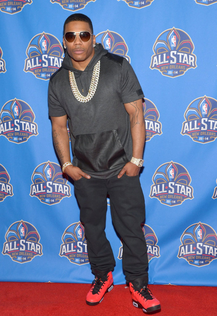 Nelly wearing Air Jordan 6 Retro Infrared 23