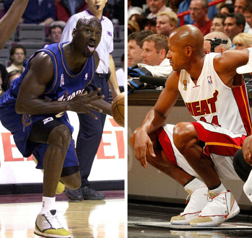 Michael Jordan & Ray Allen wearing Air Jordan XVI