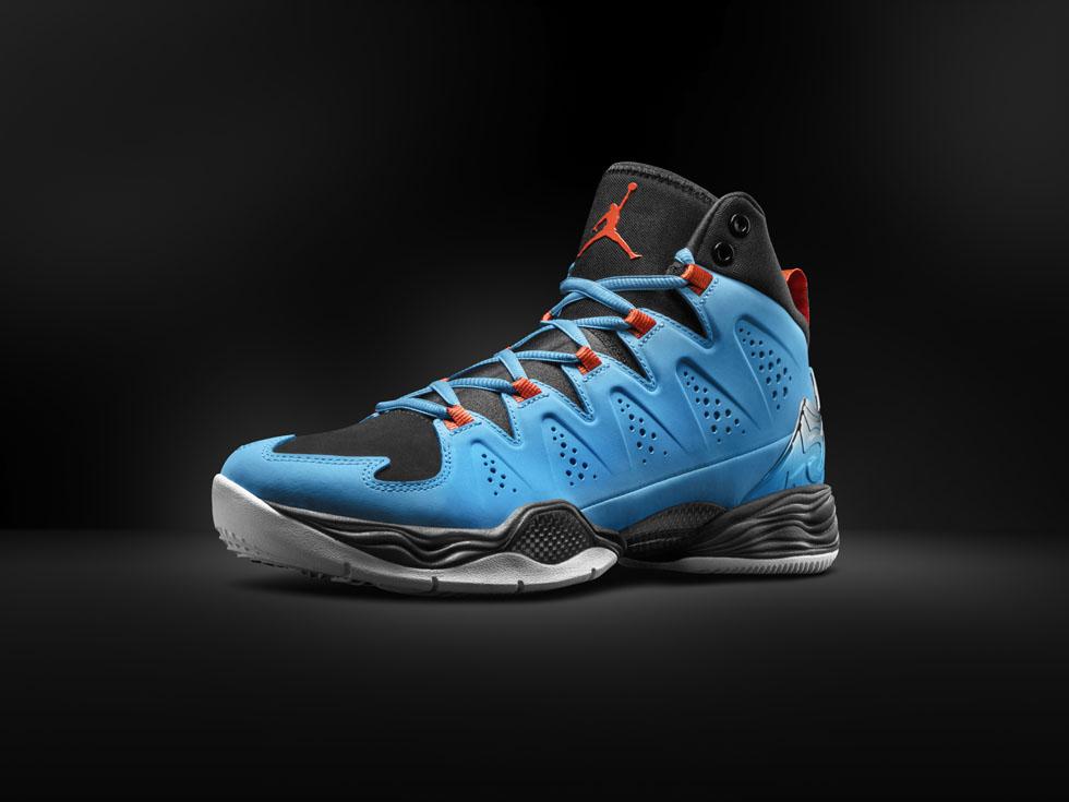 Exactly Fit Nike Air Jordan Melo M10 Black Blue Team Orange whit
