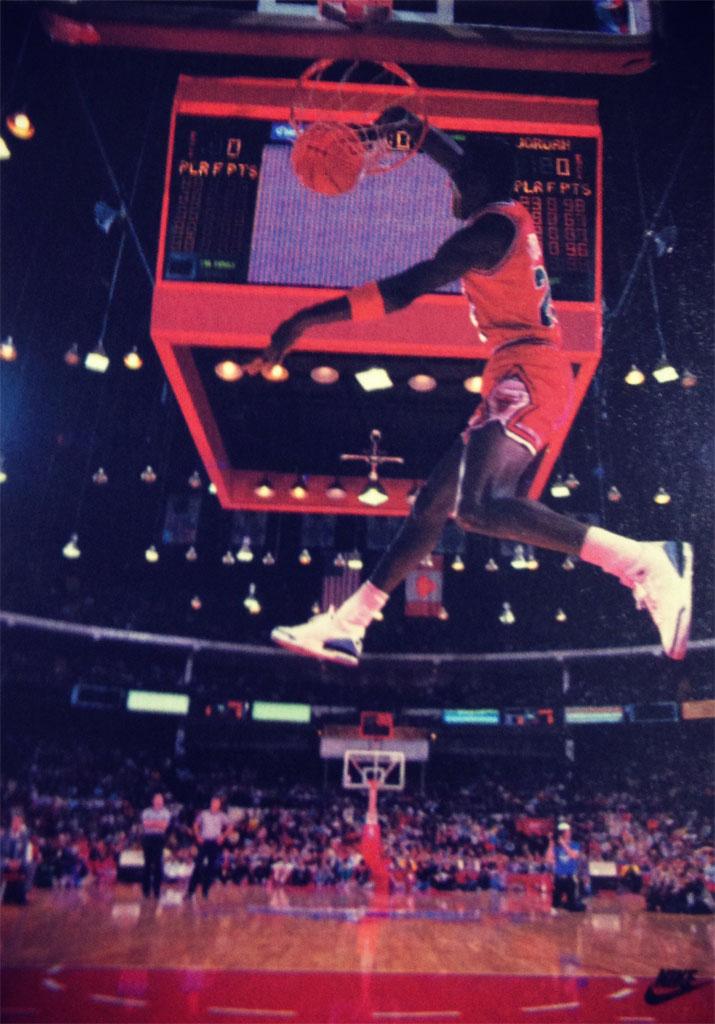 Michael Jordan 'Windmill' Nike Air Jordan Poster (1988)
