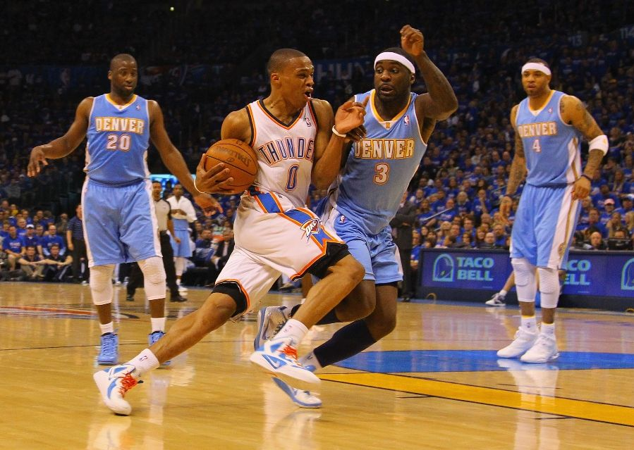 Russell Westbrook wearing the Nike Zoom Hyperfuse 2011