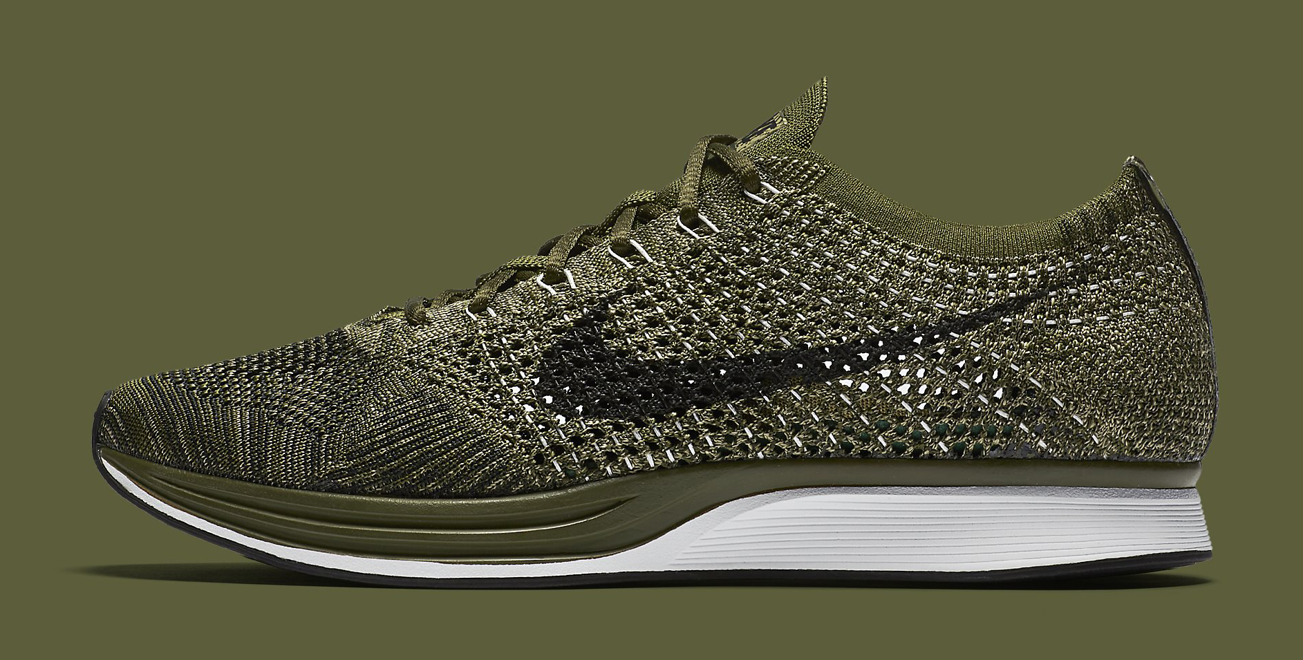 nike flyknit racer rough green 862713 300 sole collector. Black Bedroom Furniture Sets. Home Design Ideas