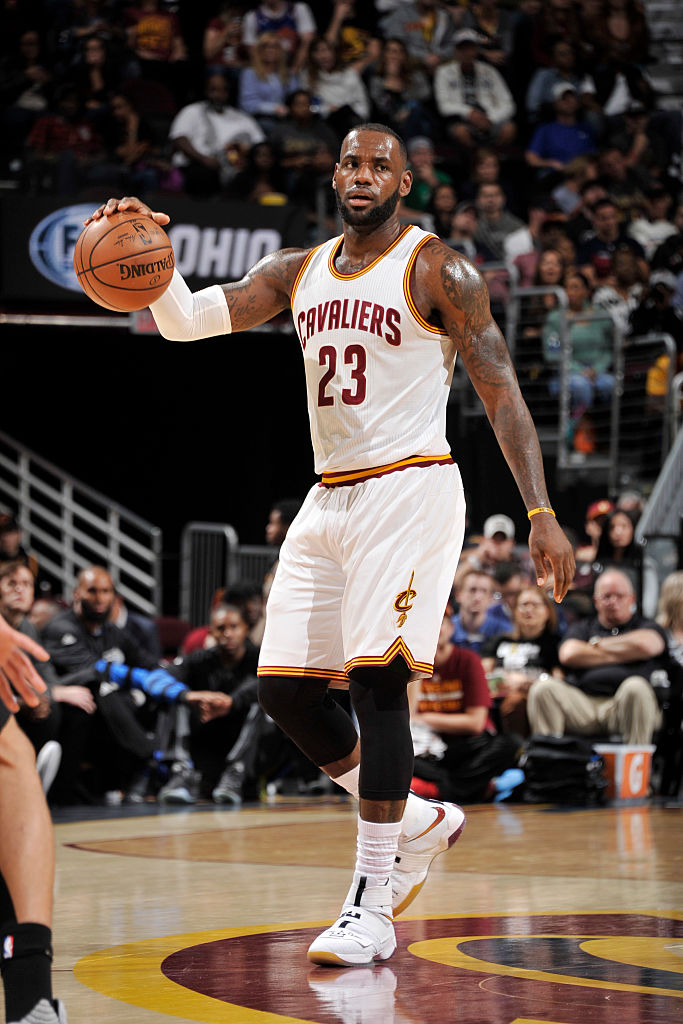 7d13c4d12a88d ... LeBron James Wearing Minerva Martin Nike LeBron Soldier 10 Tribute Game  ...